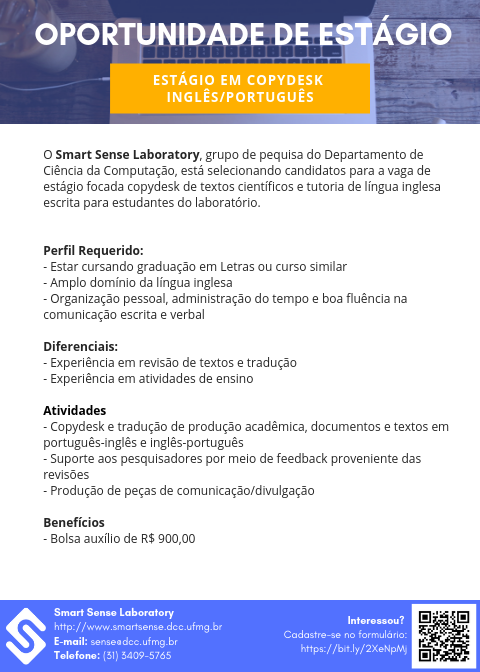 Opportunity for an English-Portuguese copydesk internship